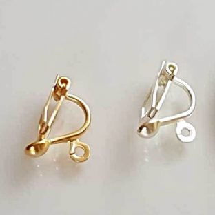 Clip On Fittings with Loop Gold/Silver Plated